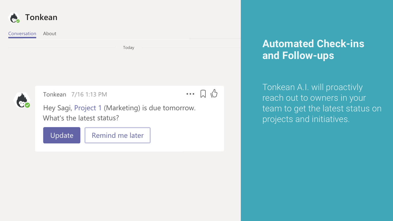 Introducing Microsoft Teams and Tonkean Integration