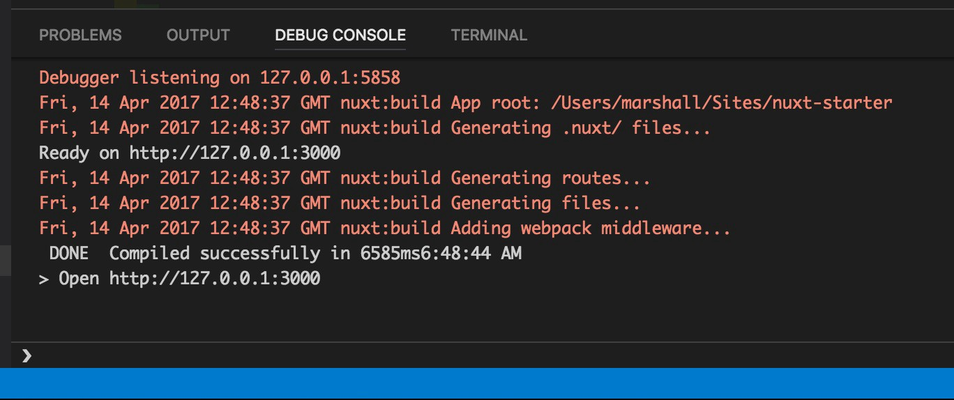 Debugging Nuxt js with Visual Studio Code - codeburst