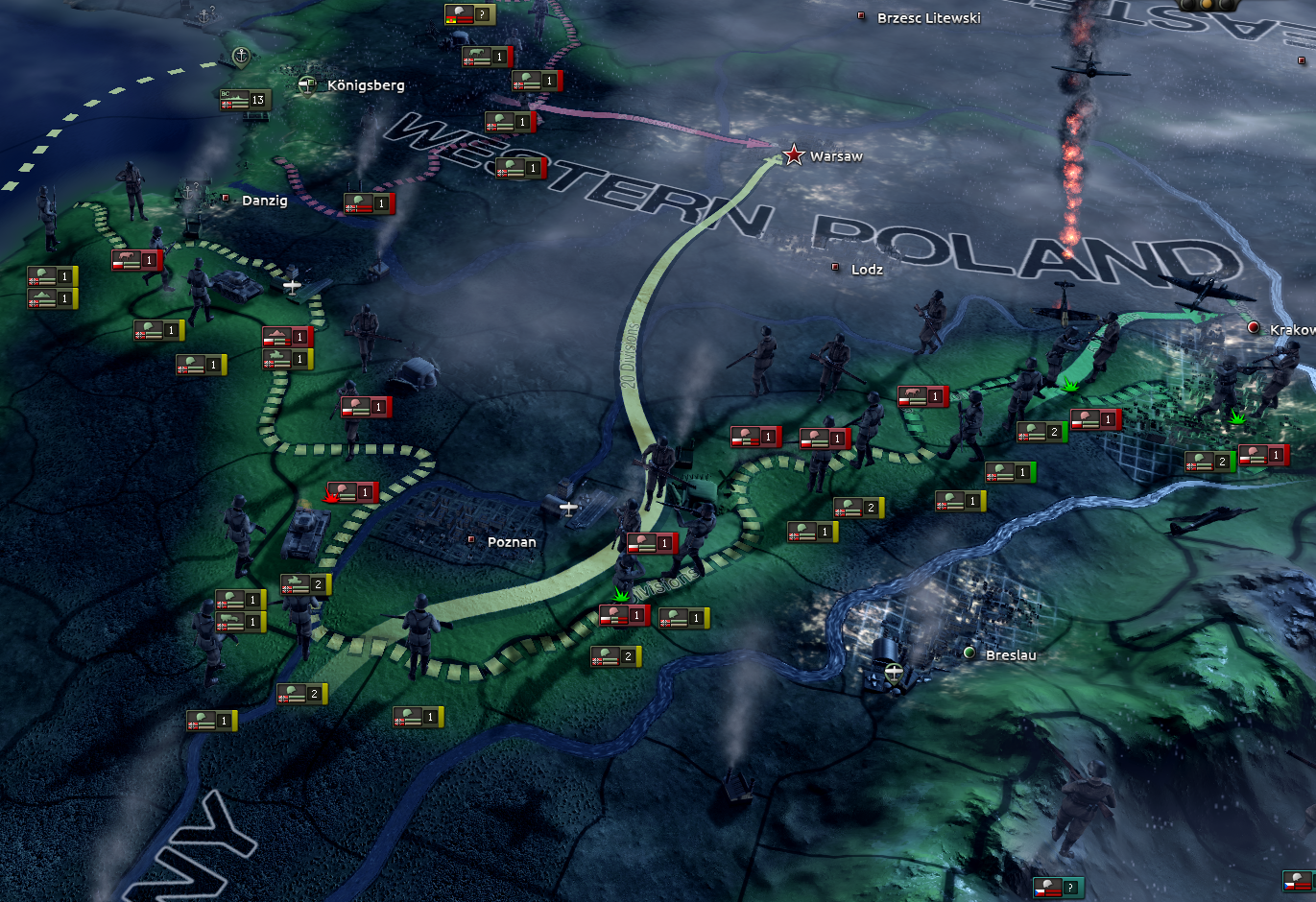 I Tried and Failed to Defend Poland in 'Hearts of Iron IV'