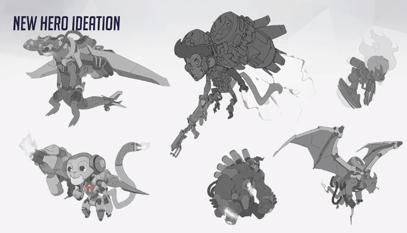 Overwatch Early Concept Art from Archives Panel , Hollywood