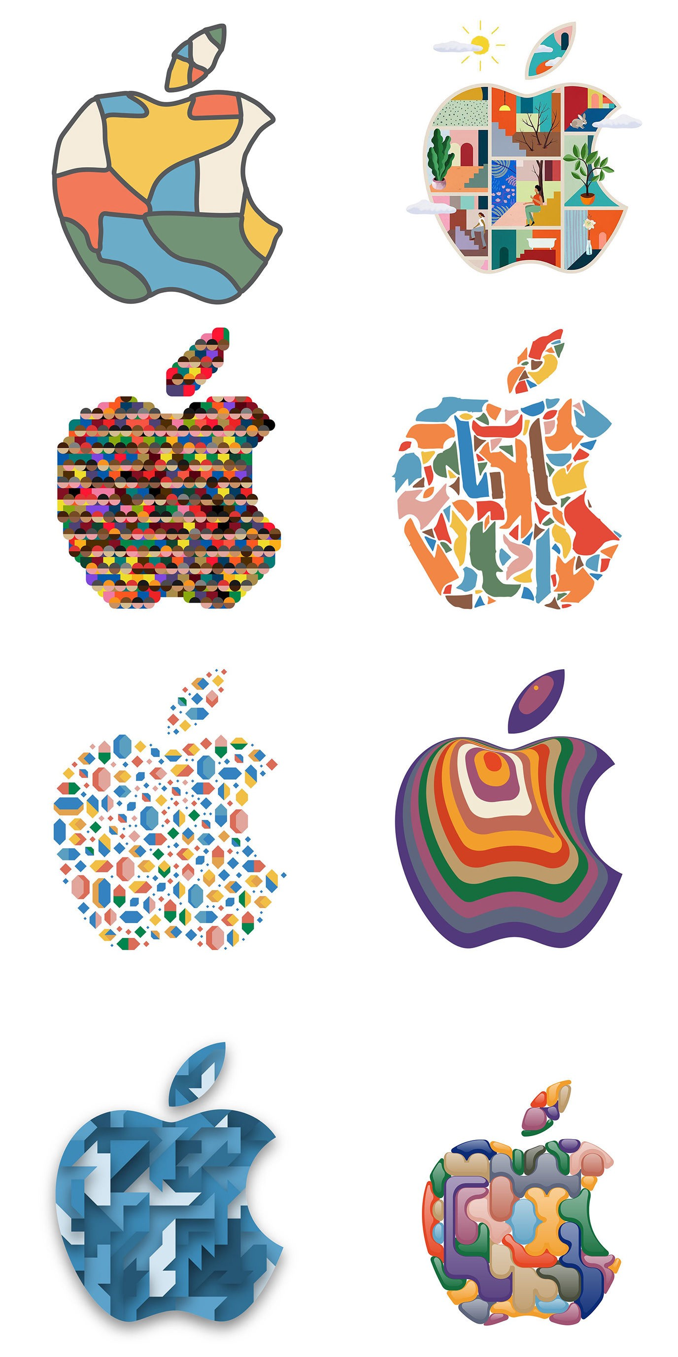 These Artists Reimagined The Apple Logo For The New iPad Pro