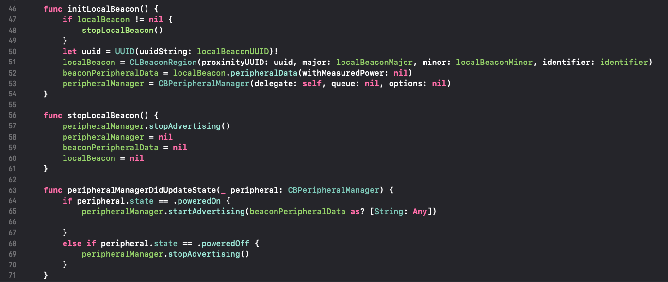 How to make an iOS Device into an iBeacon Device, Swift