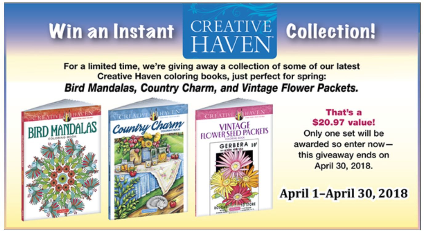 - Win Free Coloring Books From Dover! - Doverpublications - Medium