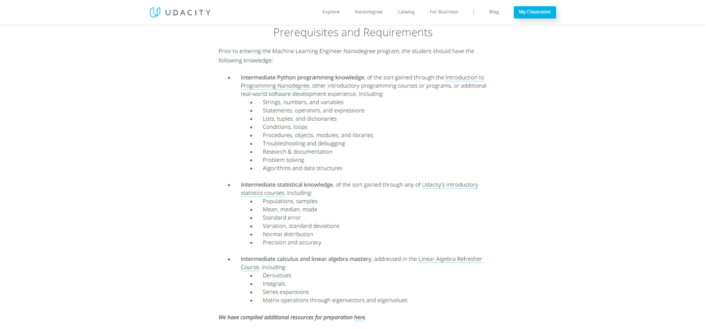 All about the Udacity Machine Learning Nanodegree Program