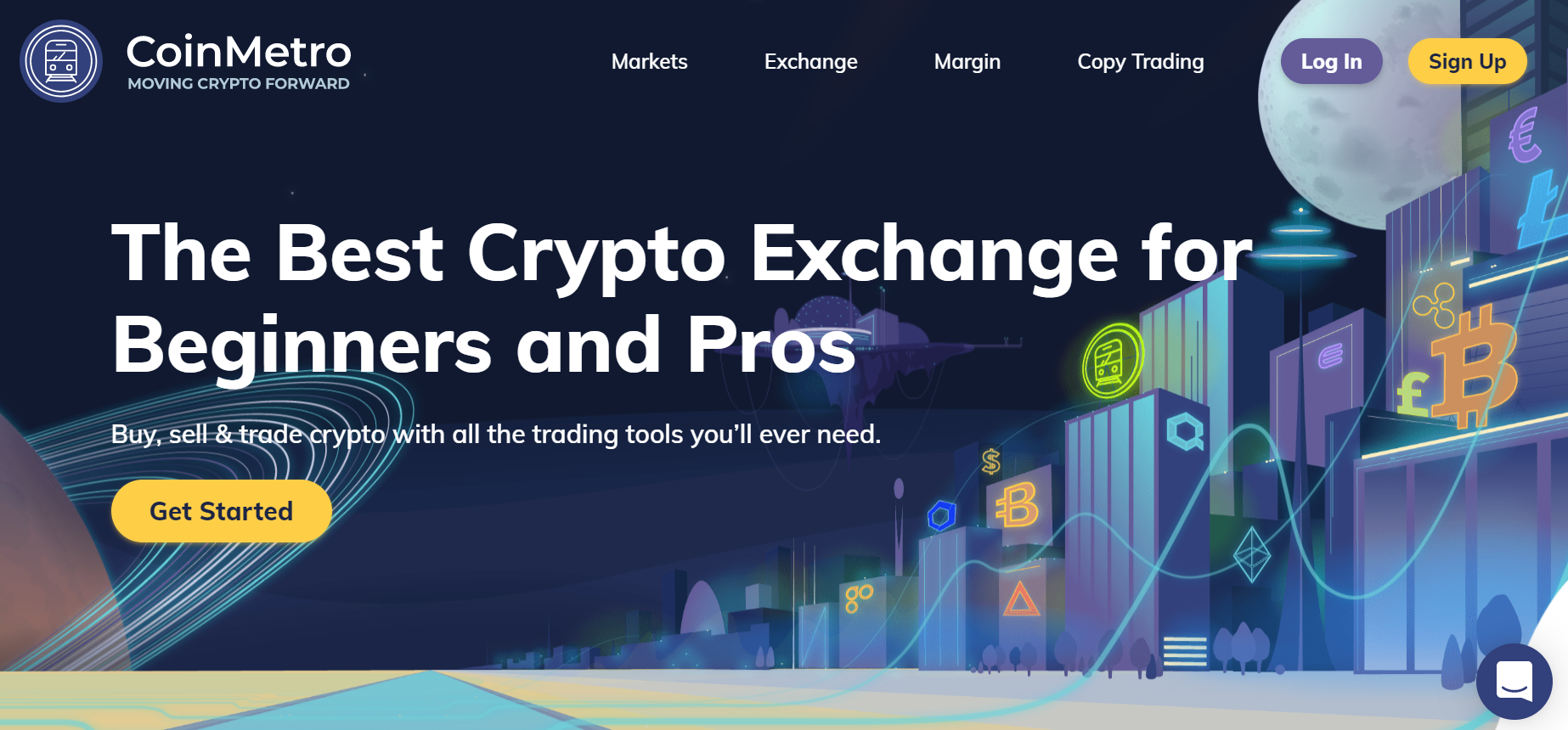 CoinMetro cryptocurrency review homepage