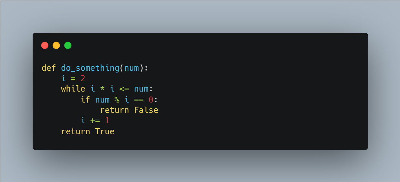 A snippet of Python code