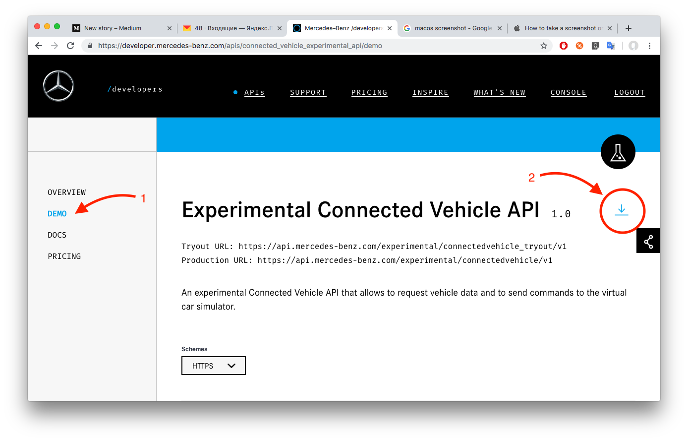 Mercedes-Benz API: generate Java client from Swagger json