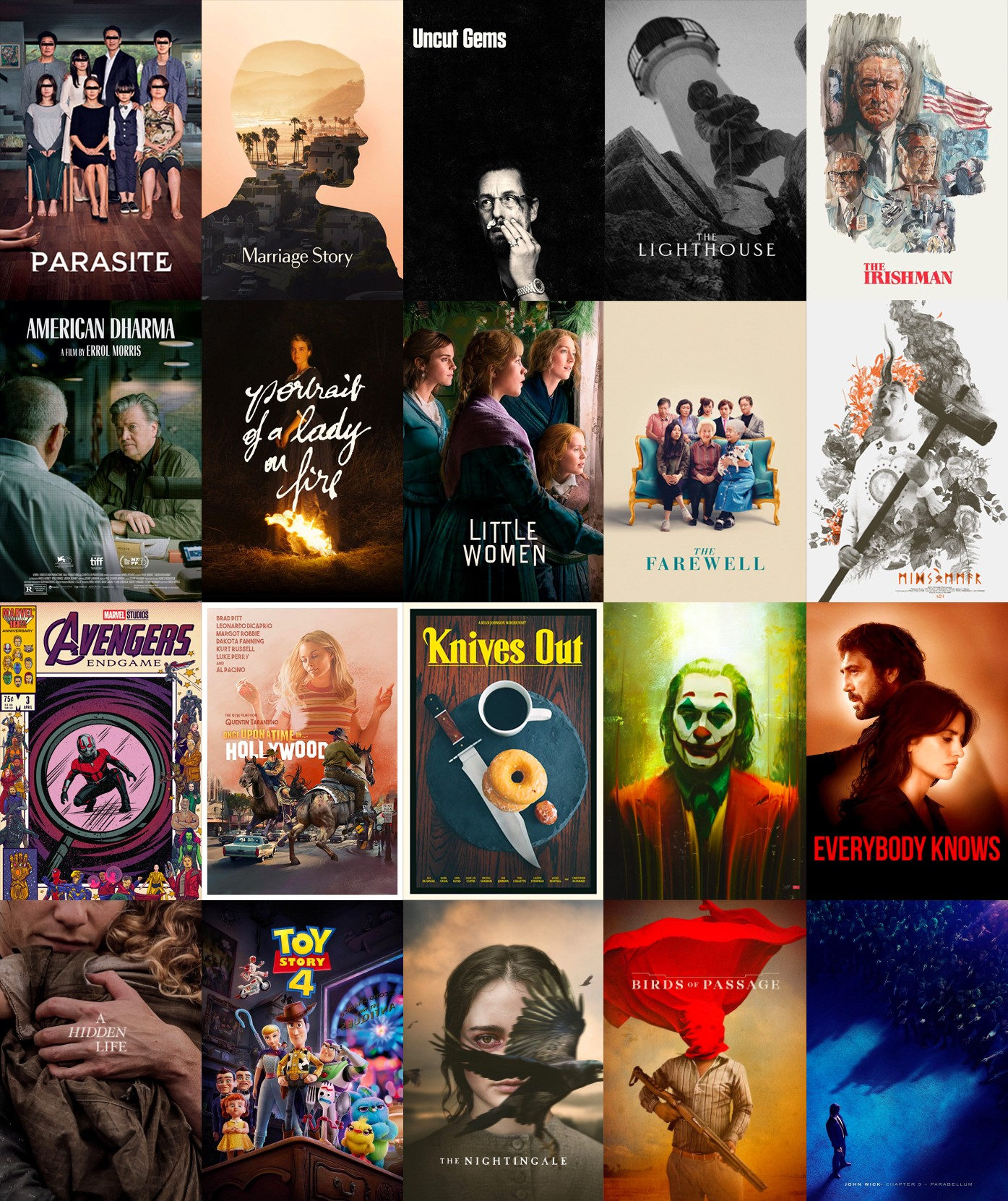 The Best Films Of 2019 20 Movies That Were Pretty Good By Peter Strauss Medium
