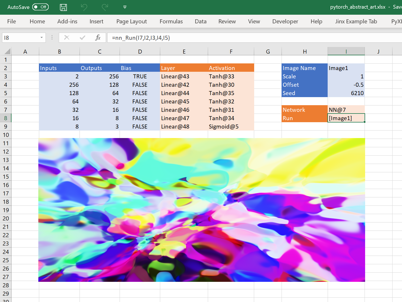 Interactive Neural Network Fun in Excel - Towards Data Science