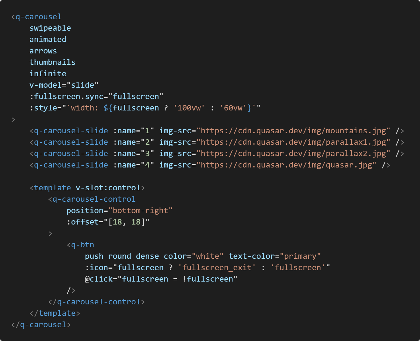 Code source html pour q-carousel