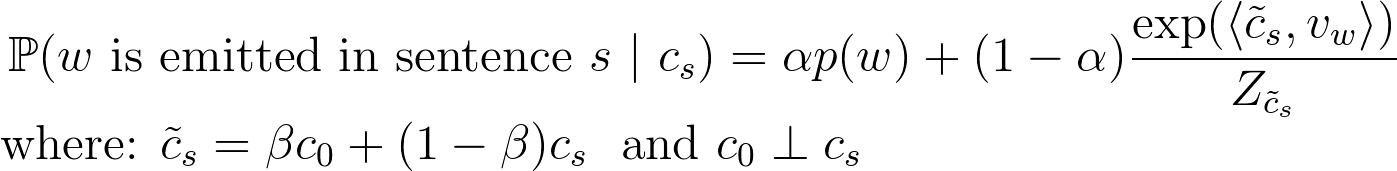 adapted model with two new parametersαandβ