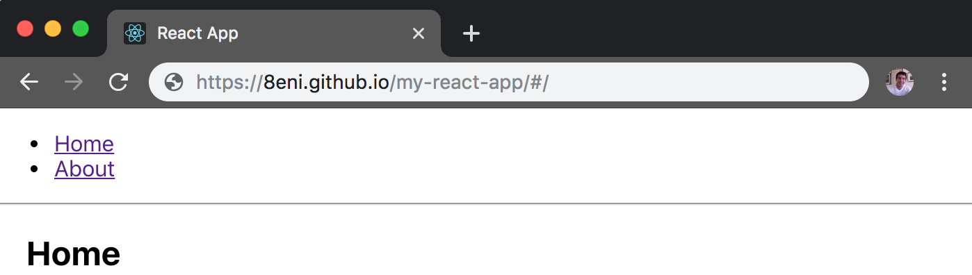 Deploying a create-react-app with routing to GitHub pages