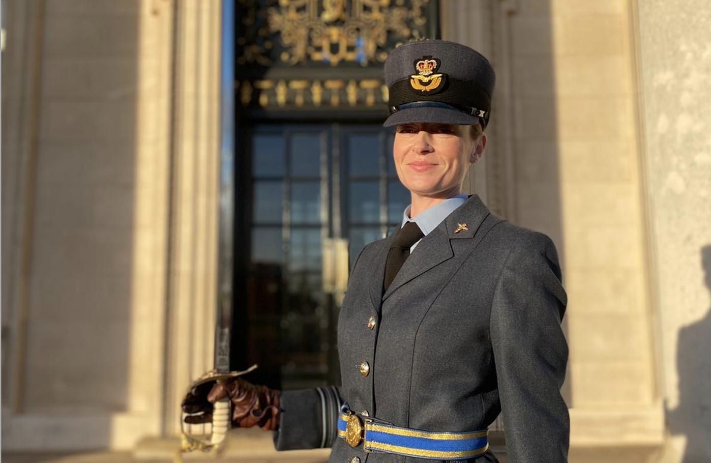 Squadron Leader Erin Anderson at her graduation