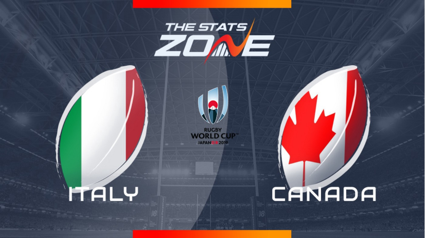 Live FREE to Air Italy vs Canada Rugby World Cup 2019