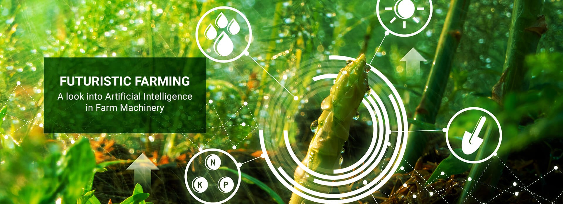"""Banner Image: """"Futuristic Farming—A Look into Artificial Intelligence in Farm Machinery"""""""