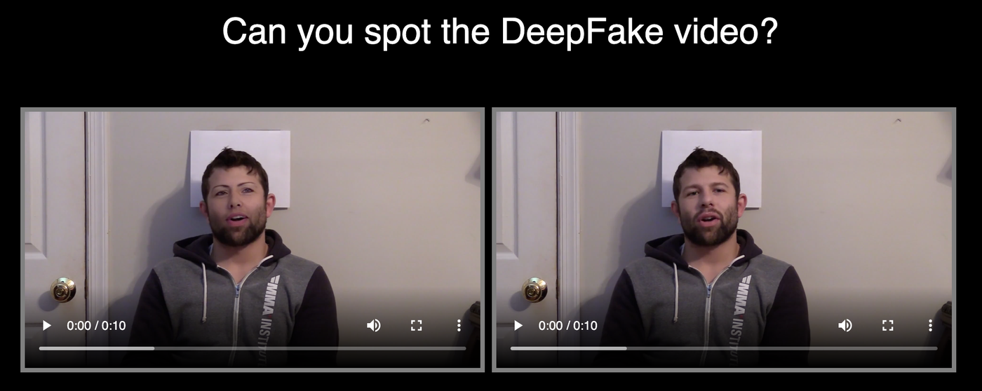 Can you spot the DeepFake video?