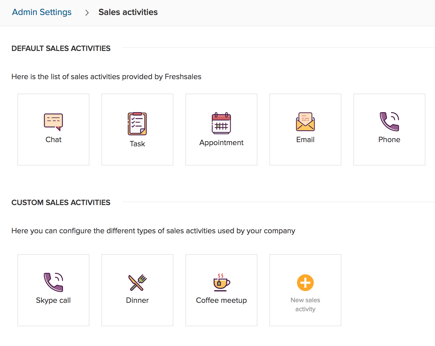 Customize your CRM to suit your sales activities