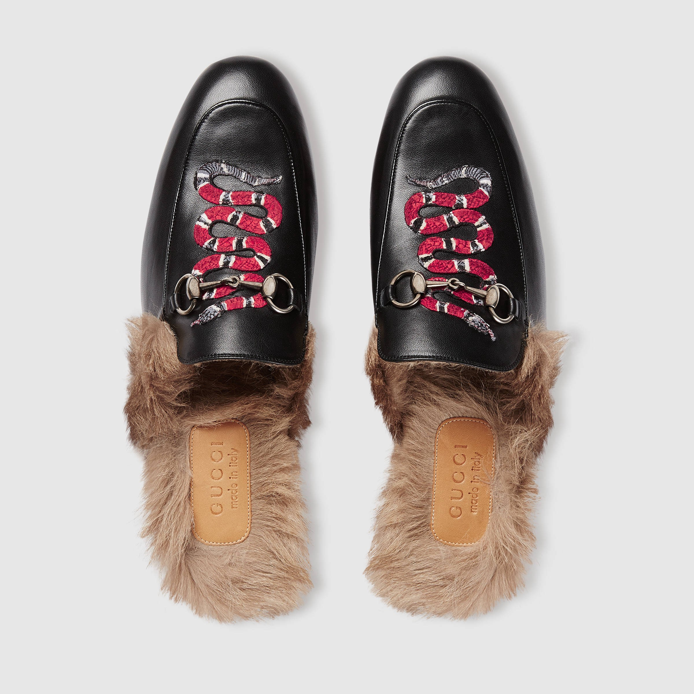 Gucci Princetown Leather Slipper (with