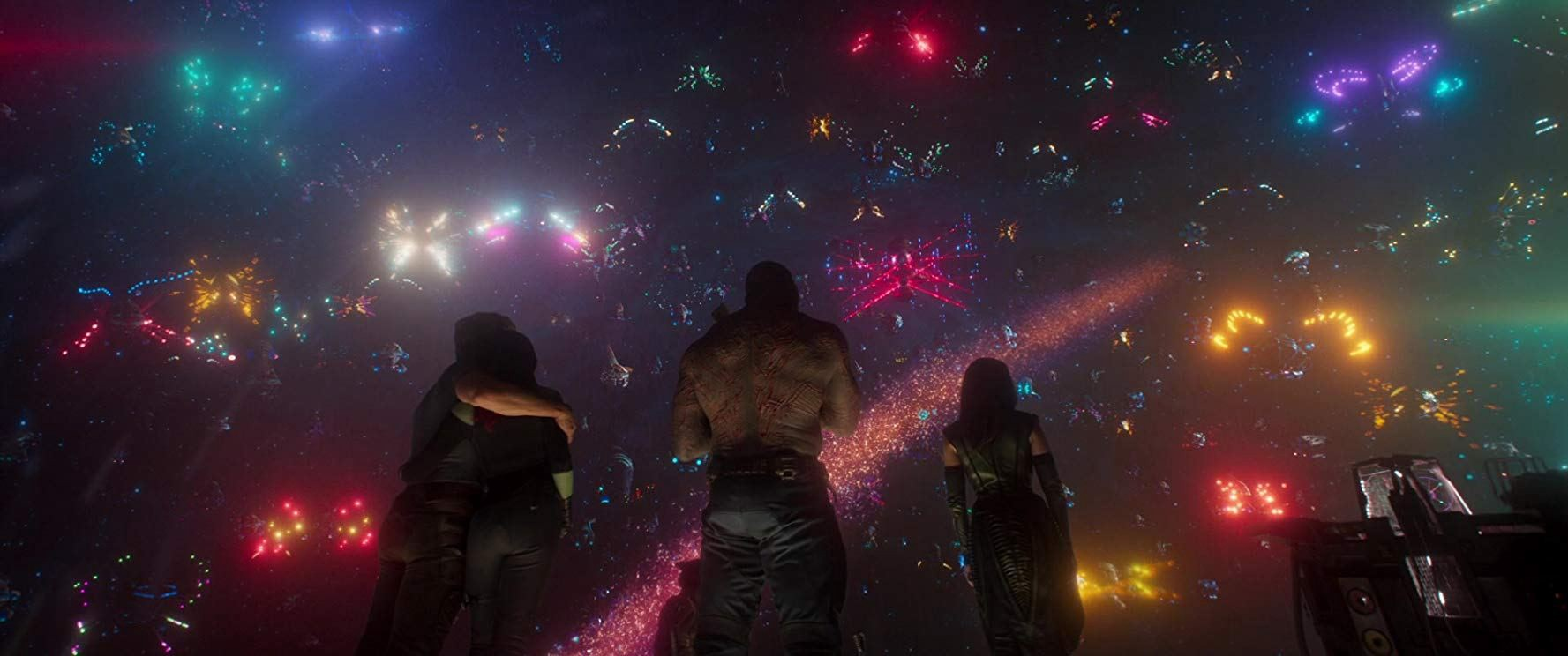 Screenshot from the ending of 'Guardians of the Galaxy Vol. 2'