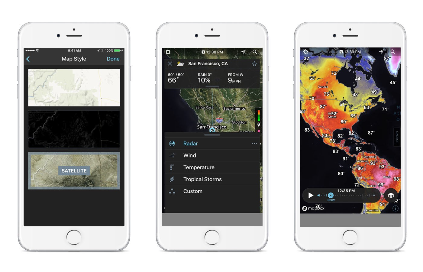 The Weather Channel's Storm Radar app - Points of interest