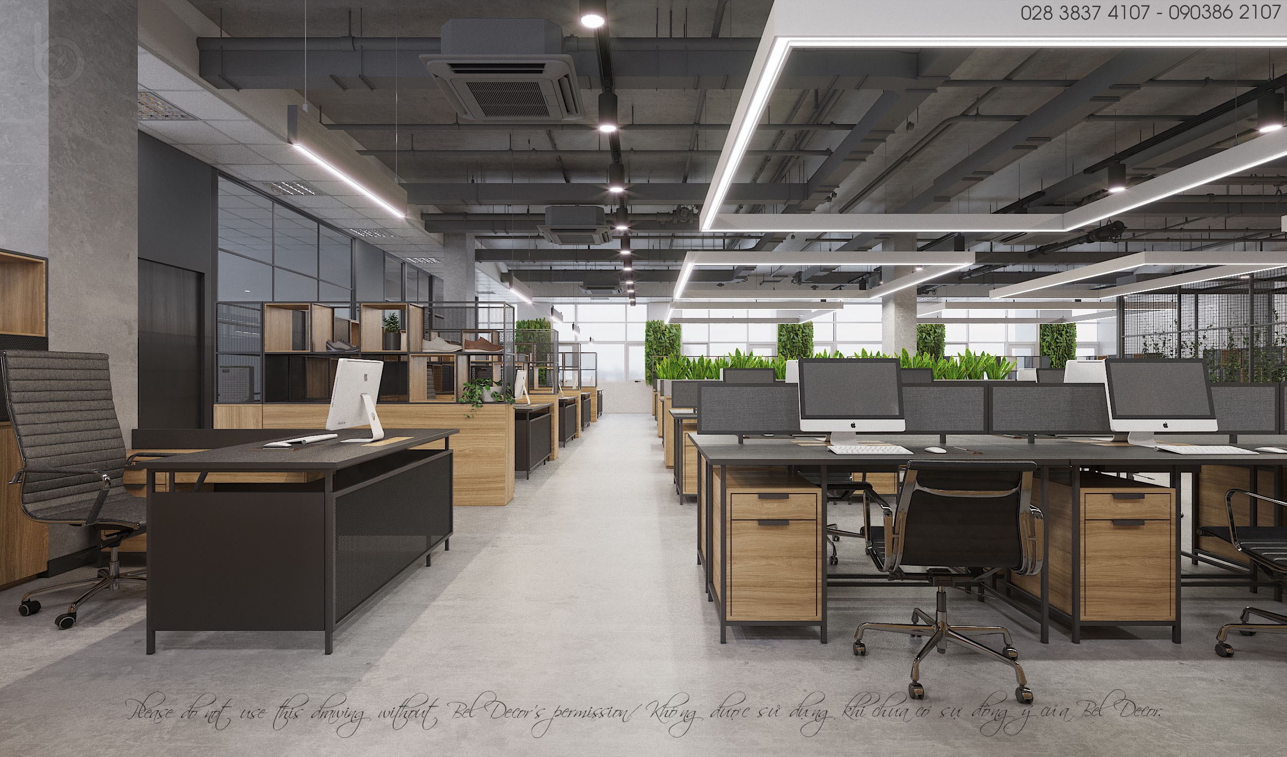 Industrial Inspiration For Timeless Office Look By Bel Decor Medium