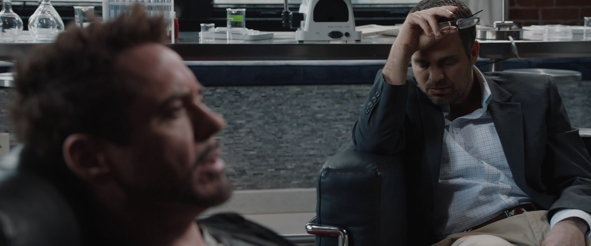 Tony Stark boring Bruce Banner to death in Iron Man 3's post-credits scene