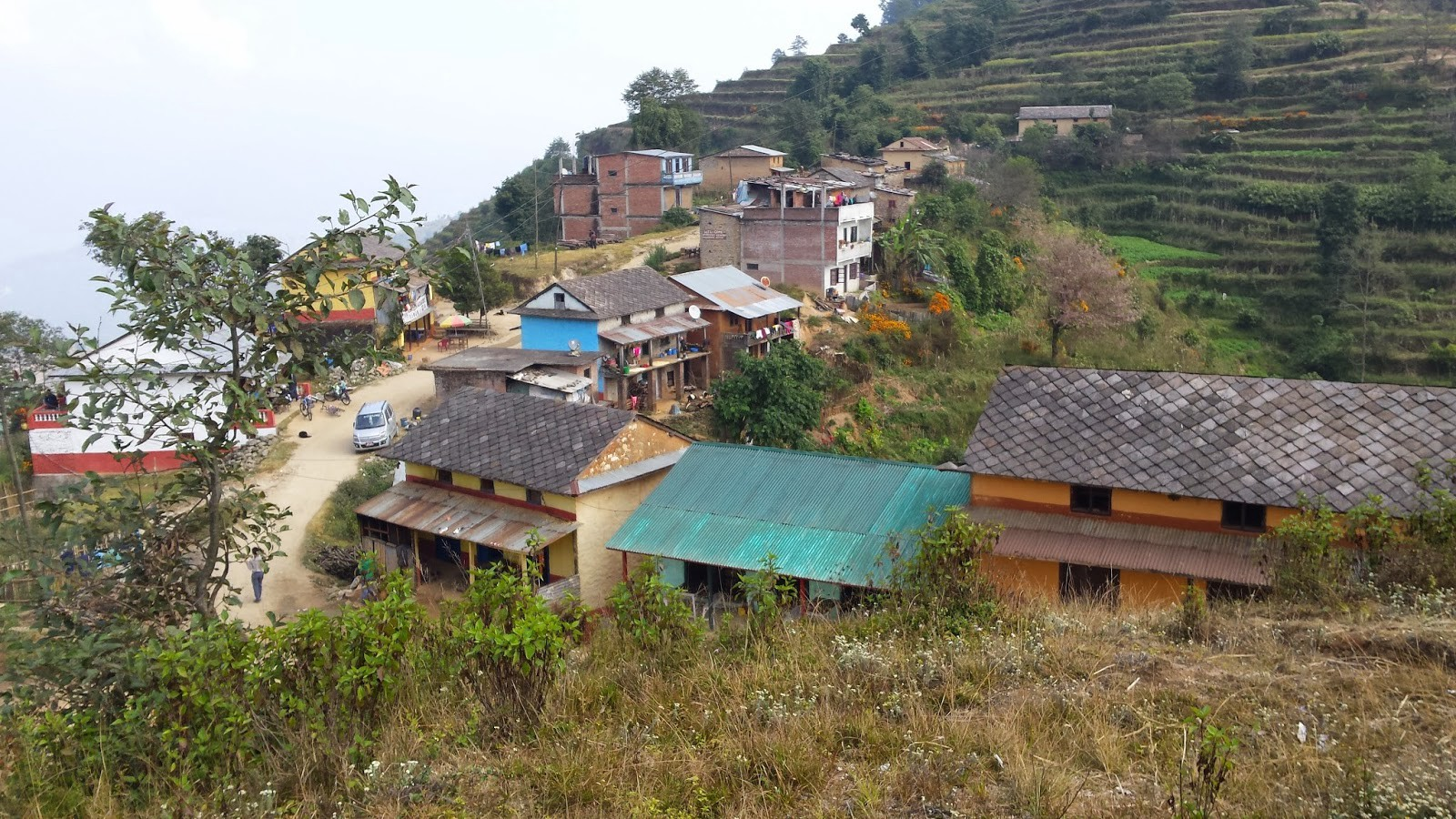 This is actually a different Nepali village that I visited earlier that week, but it's a better picture.