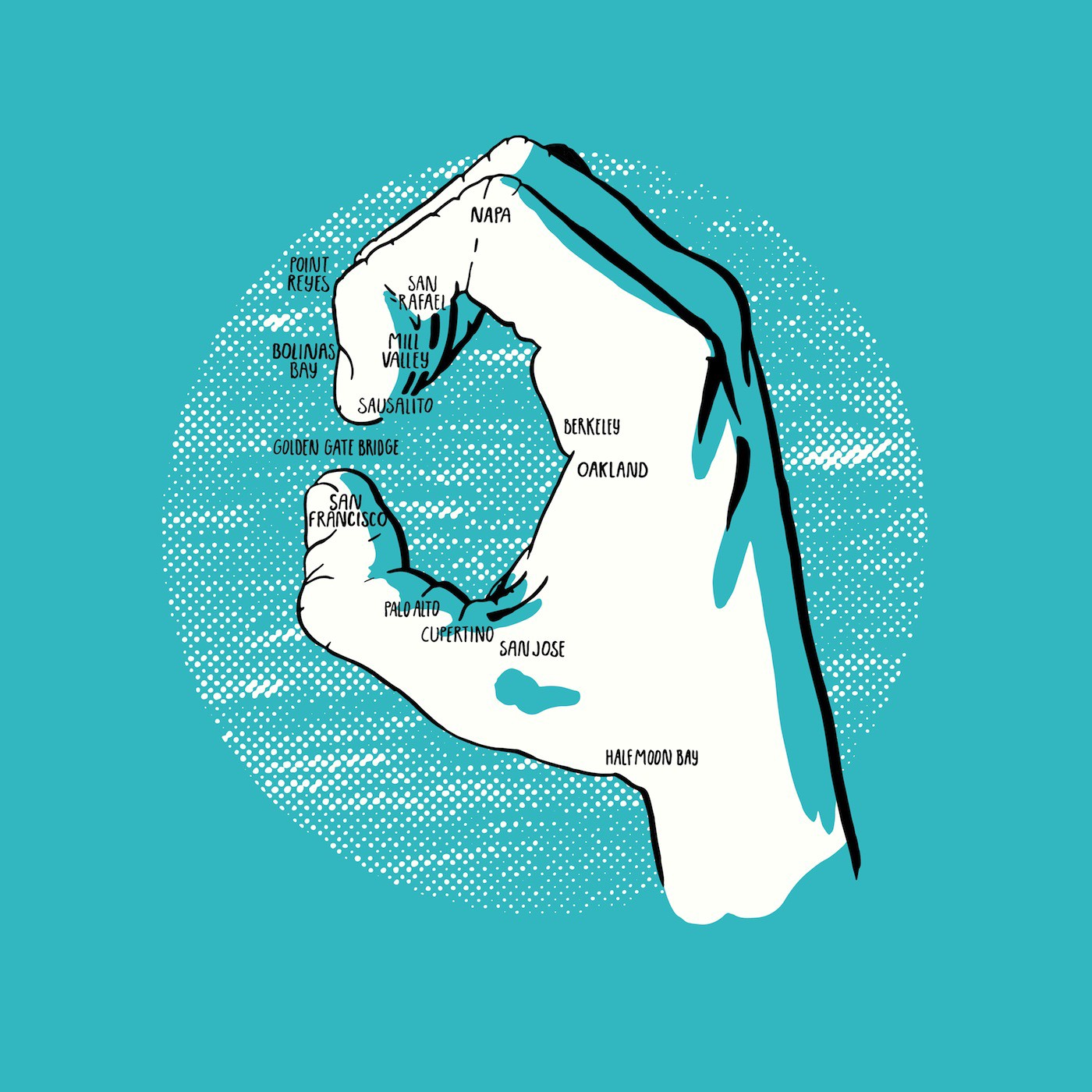 Your Hands Are Actually Maps Of Sf Bay Area The Bold Italic San Francisco By The Bold Italic Editors The Bold Italic Shop with confidence on ebay! your hands are actually maps of sf bay