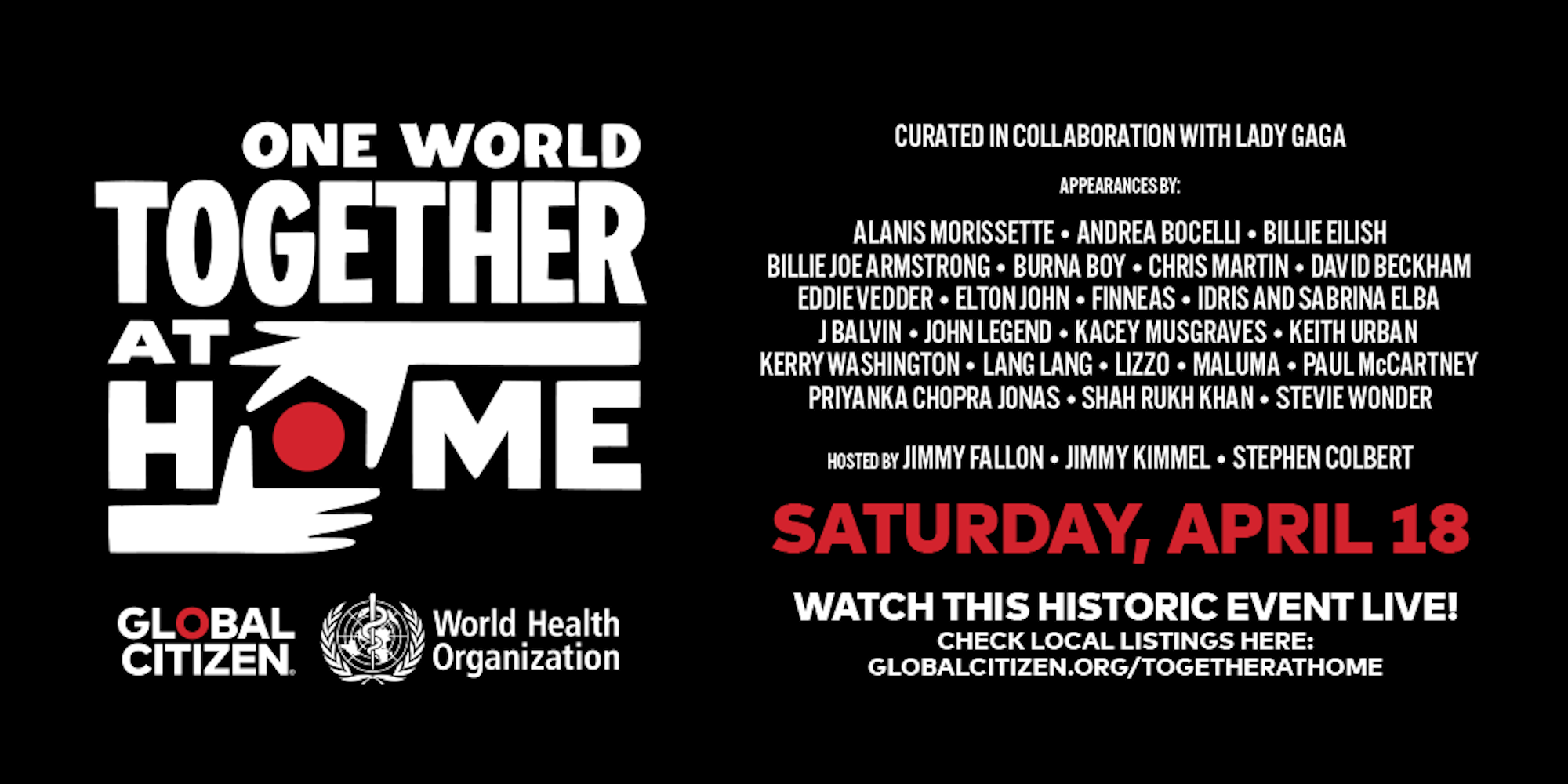 LiveStream!! One World: Together at Home Virtual Concert ...
