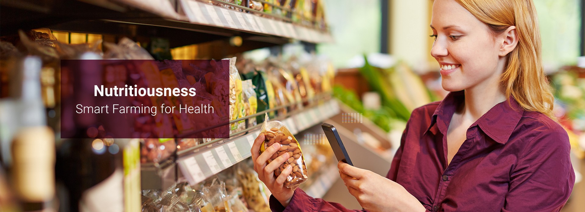 """Banner Image: """"Nutritiousness: Smart Farming for Health"""""""