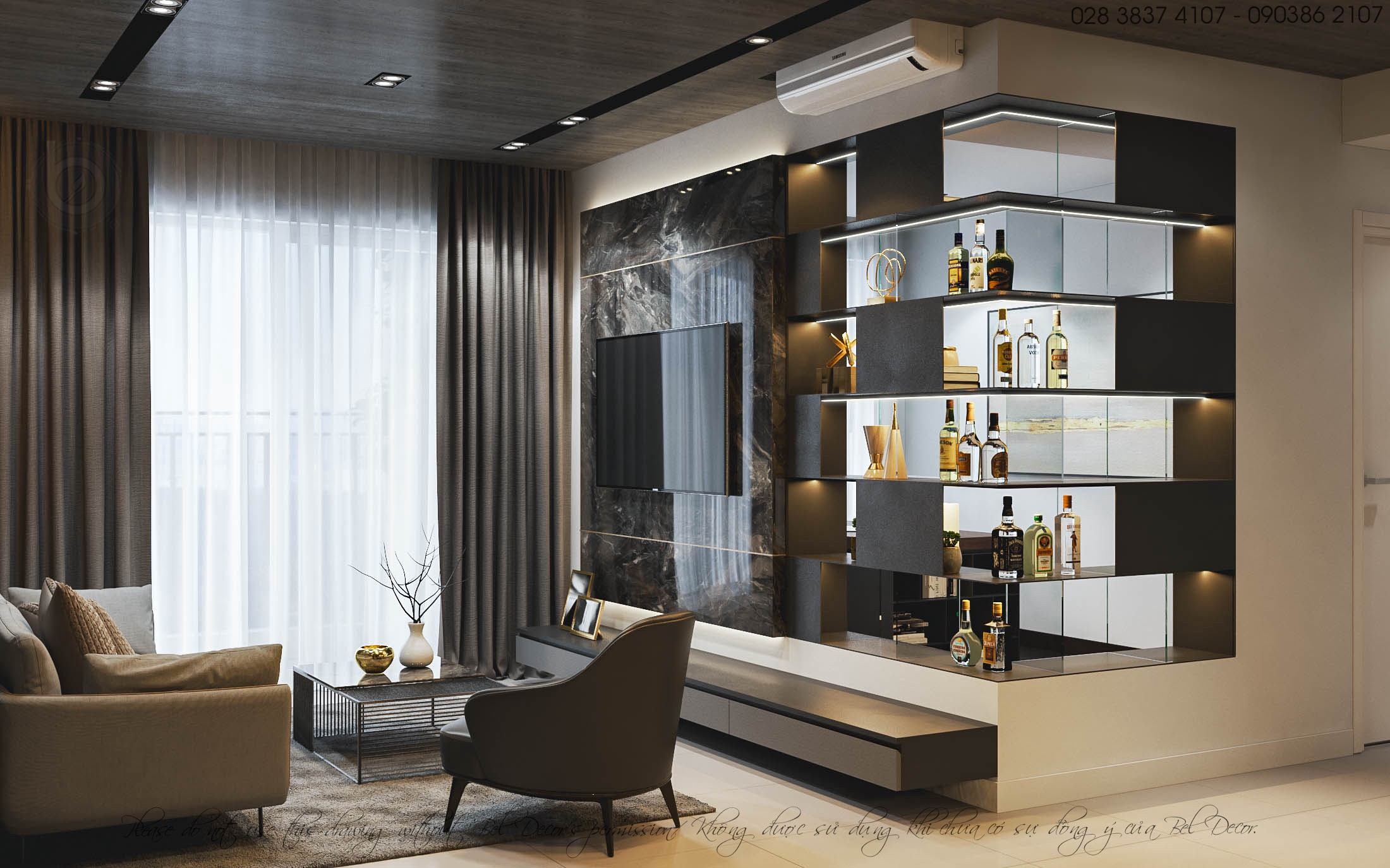 Chic Contemporary Spaces Rendered By Anh Nguyen: High-Class Living Space With Impressive Modern Style