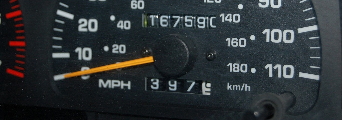 Odometer of a car