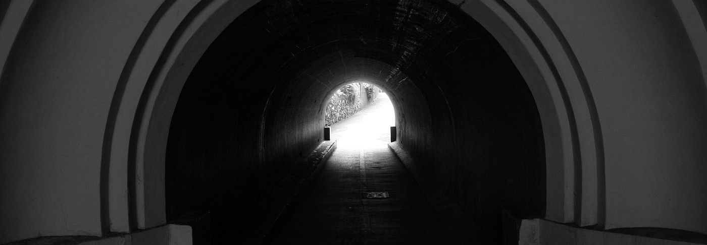 Narrow view through a tunnel
