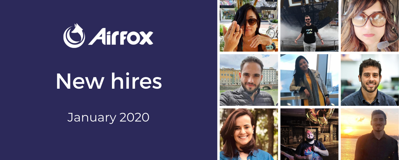 Airfox New Hires: January 2020—collage