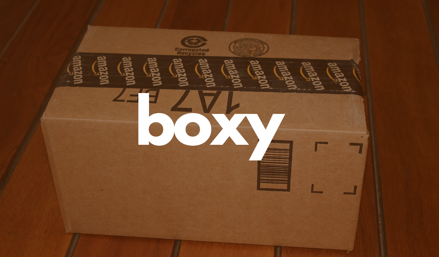 Boxy header: Unopened Amazon package