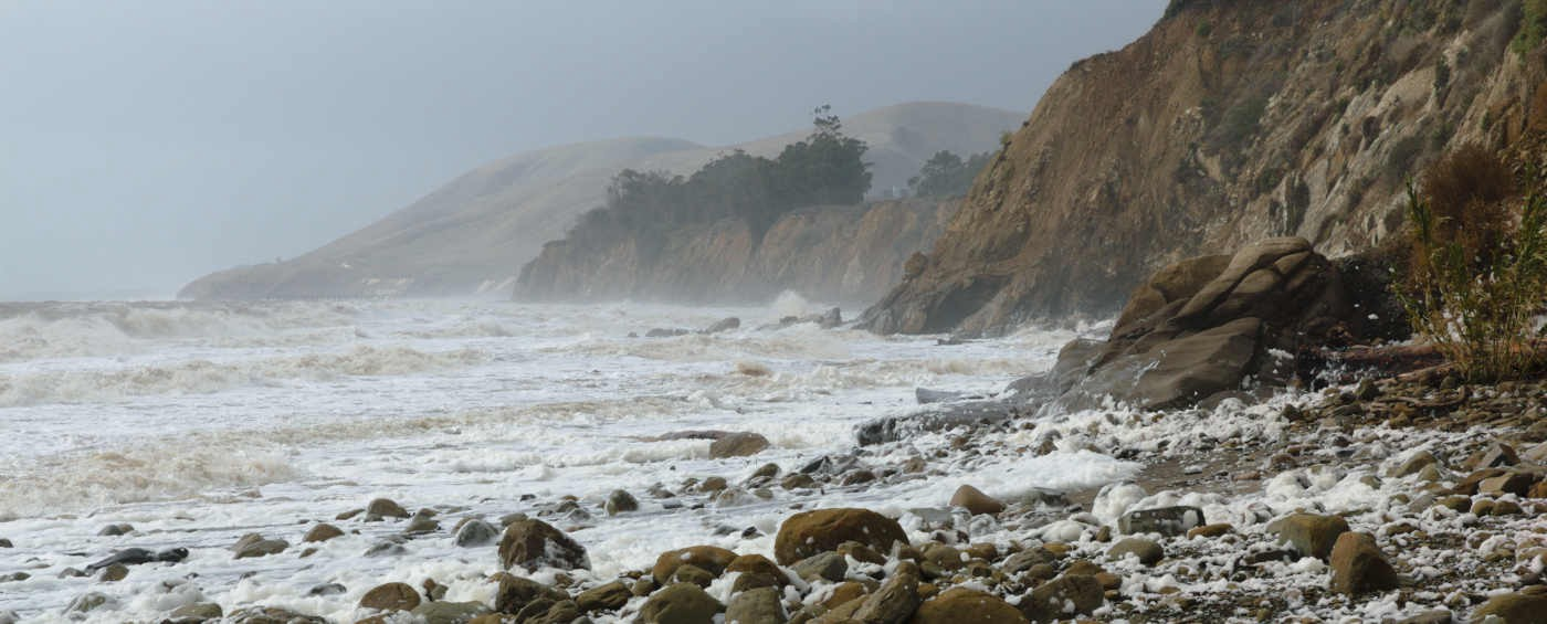 Coast during storm