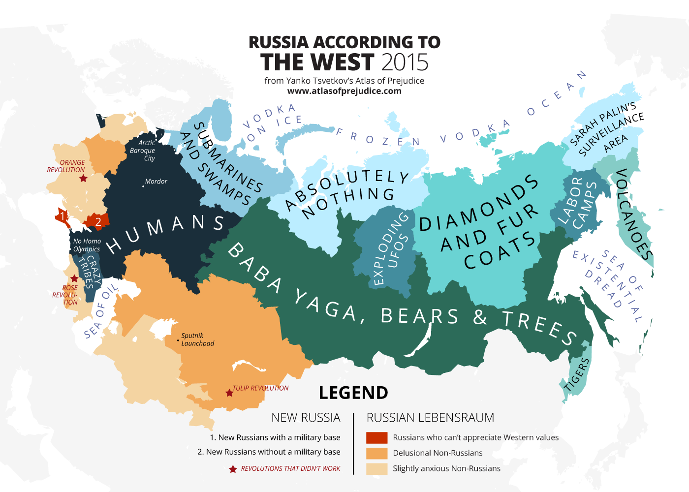 Russia Seen From the West - Atlas of Prejudice