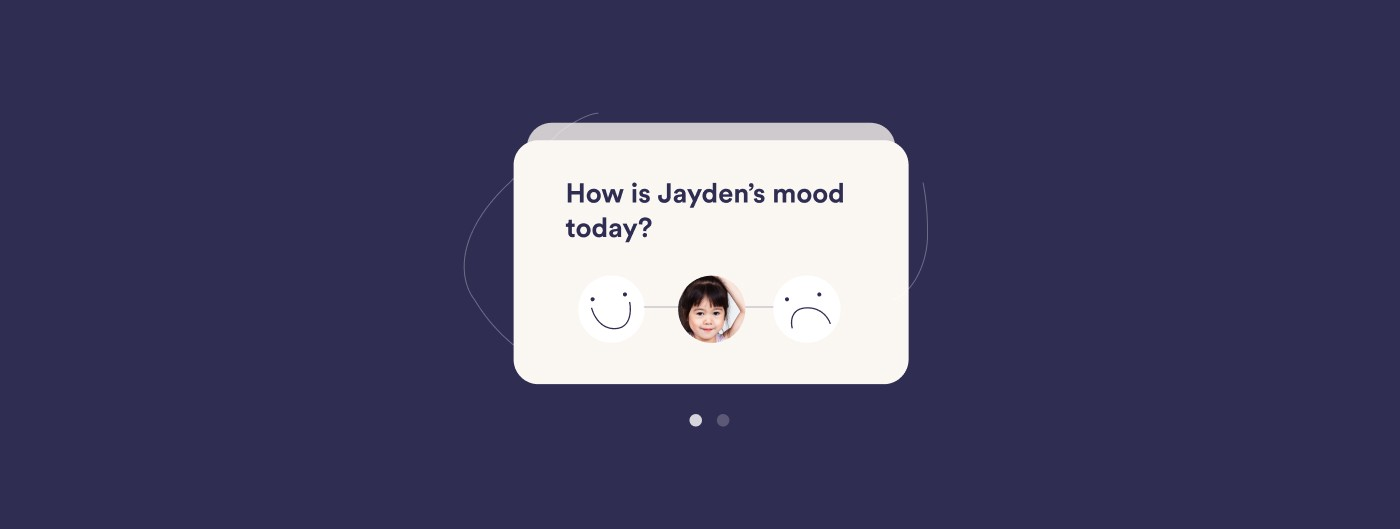 """Card prompt graphic asking """"How is Jayden's mood today?"""""""