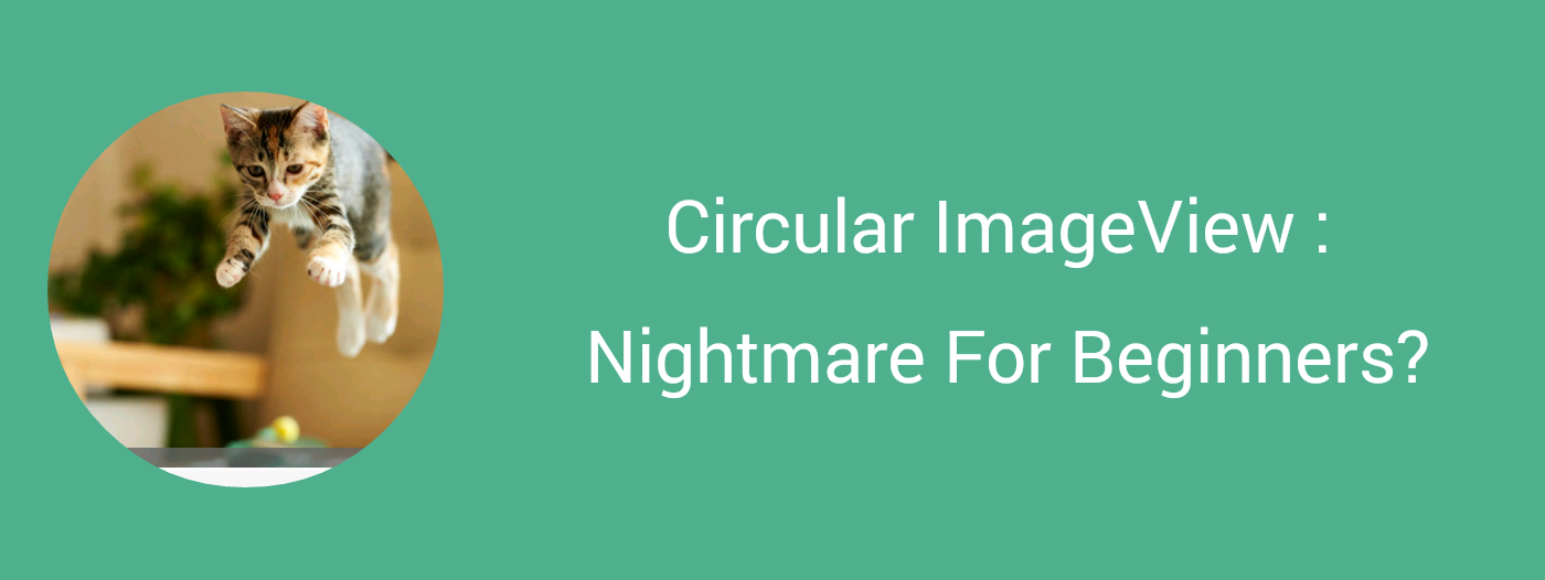 Circular ImageView : Nightmare For Beginners? - AndroidPub