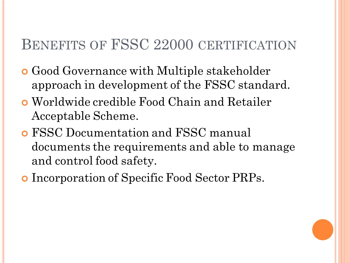 Importance Of FSSC 22000 Food Safety System Certification