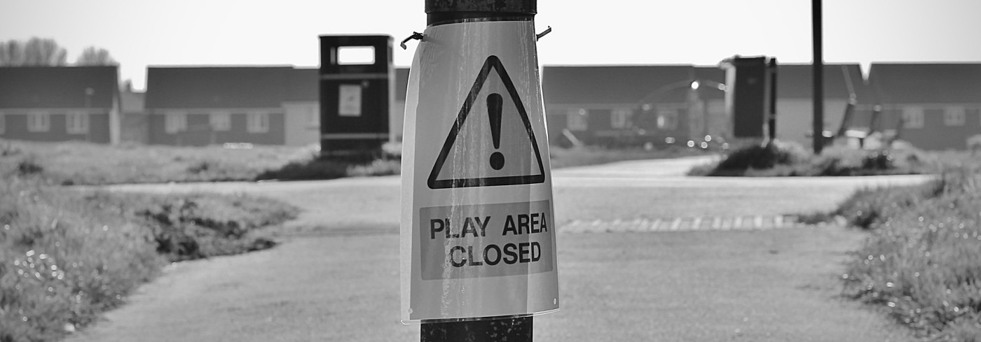 Playground closed off in the COVID-19 lockdown