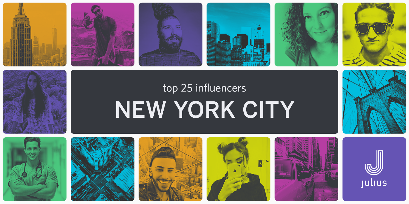 Influencers in Your Backyard: Our Top 25 in NYC - Julius