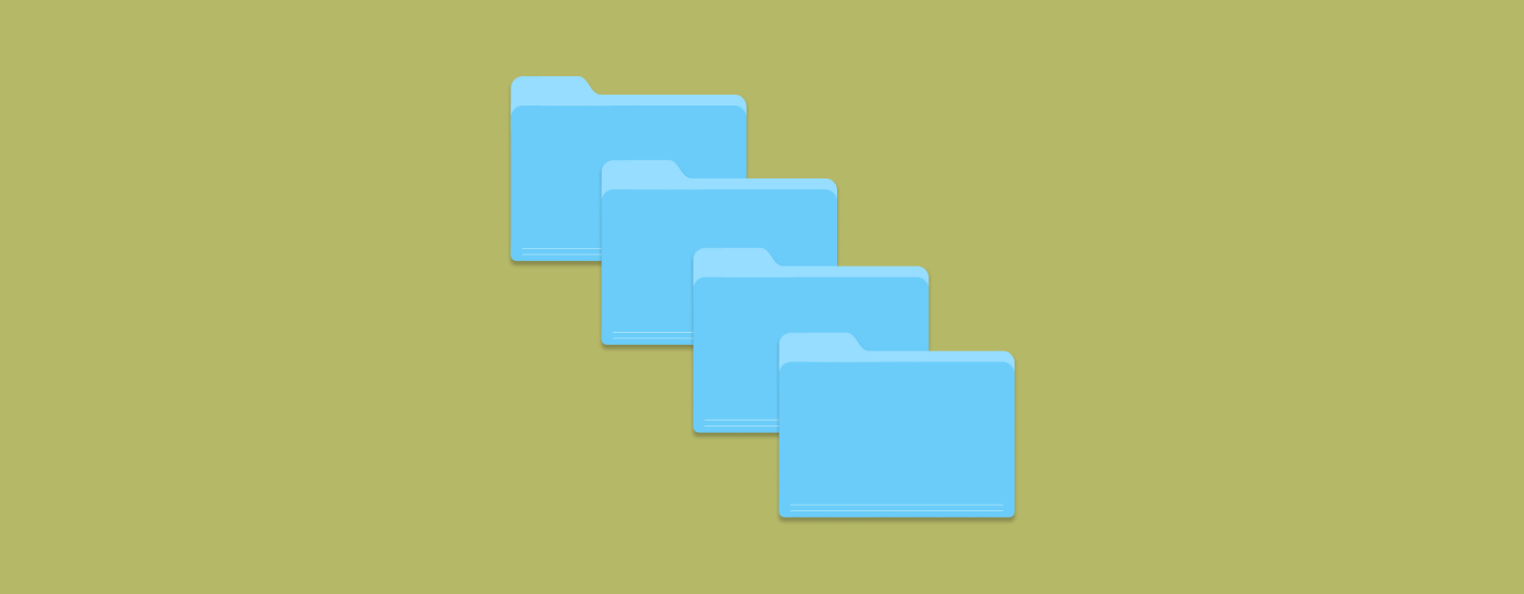 Decorative image with 4 files on a green background