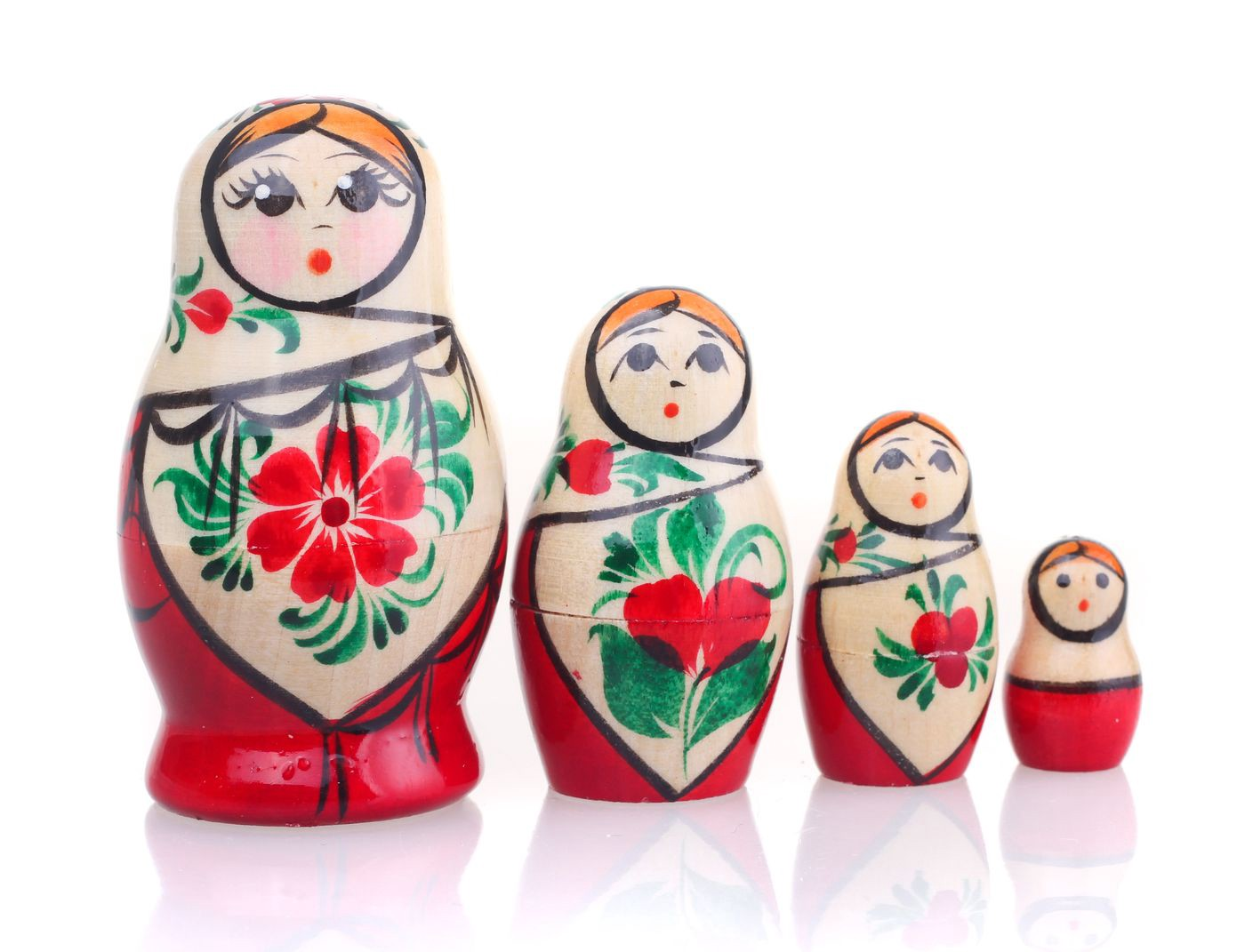 Russian Matryoshka Doll Set Kids Toys Home Decoration Character Hand Painted S