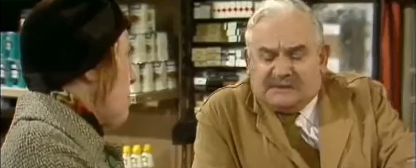Scene from the TV sitcom Open All Hours