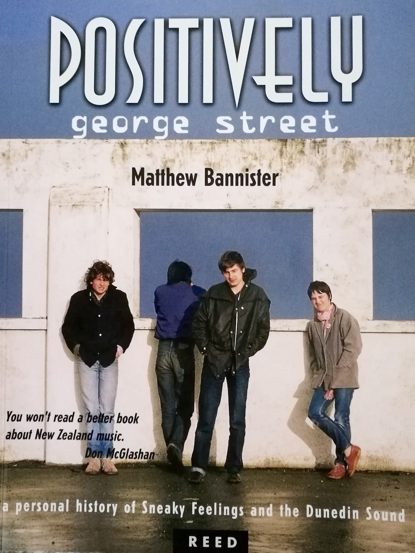 The cover of Positively George Street. That's Matthew in front.
