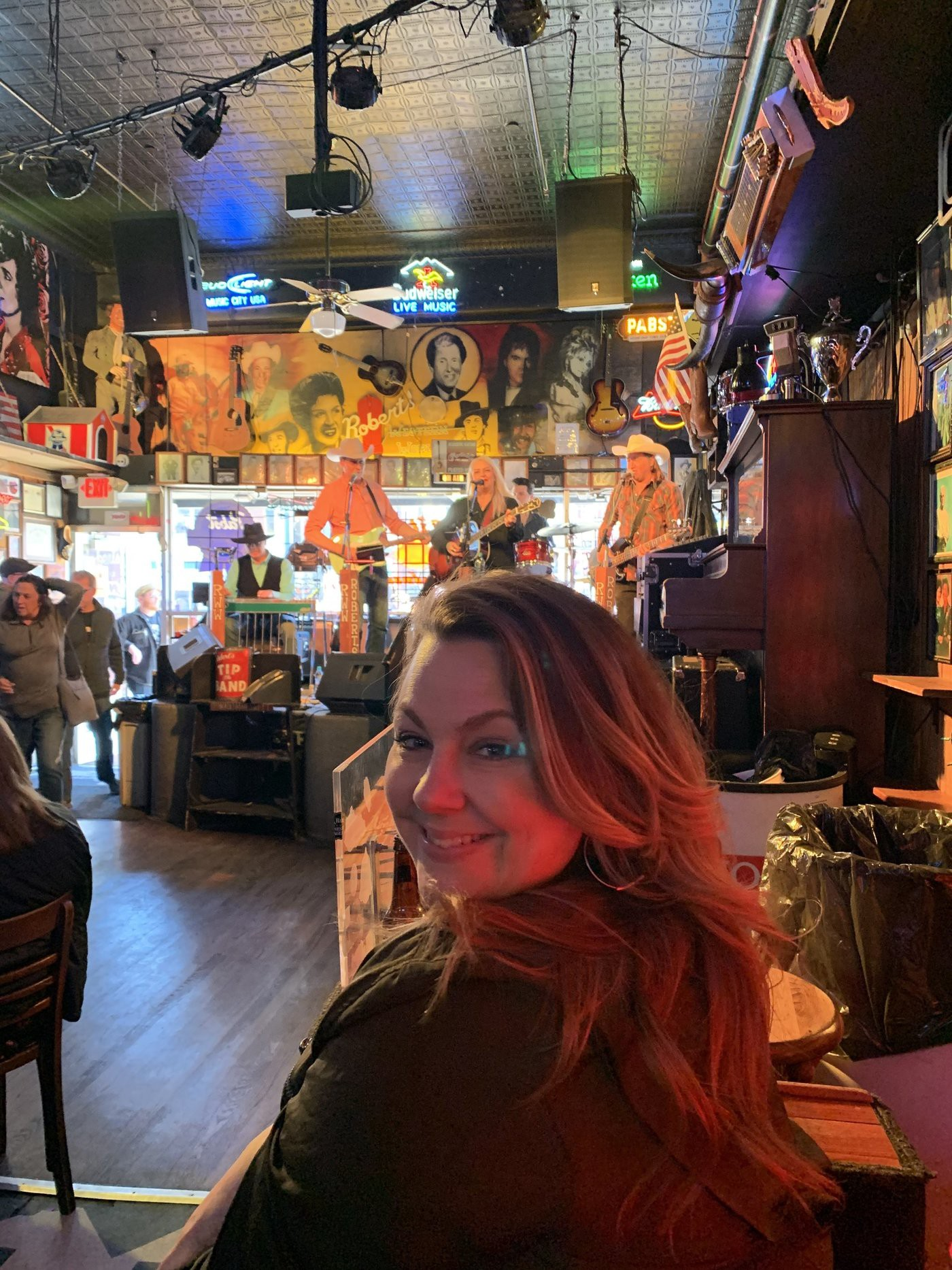 Sarah Sweeney in Robert's Western World. Nashville, TN. March 2020