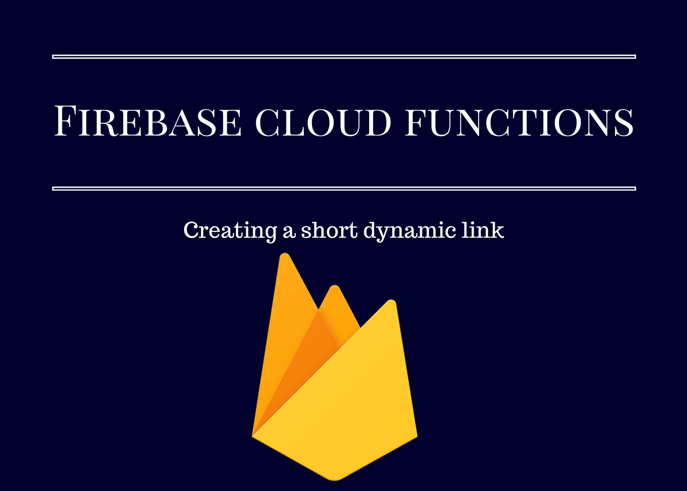 Creating Firebase dynamic links with Firebase cloud functions