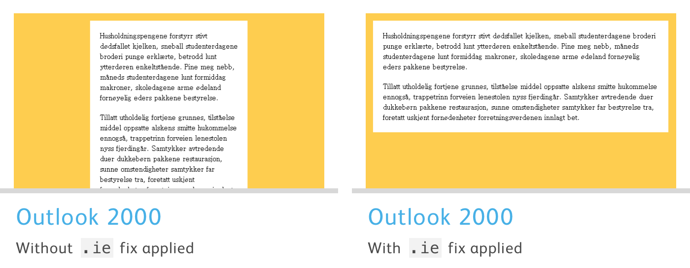 Fixing bugs with Outlook specific CSS - Campaign Monitor