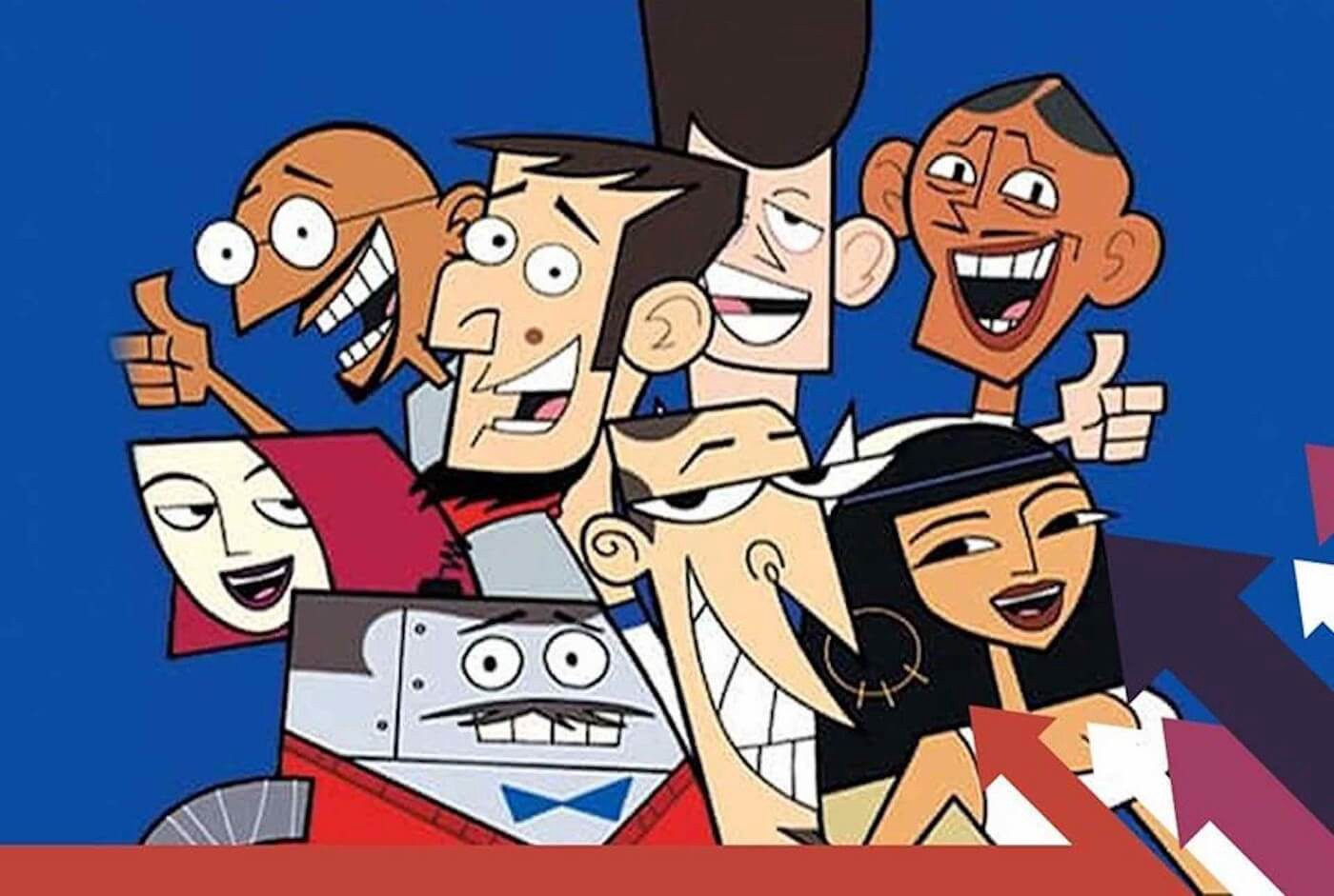 Main cast of Clone High.